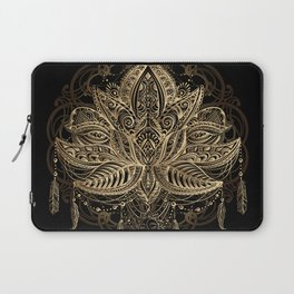 Lotus Black & Gold Laptop Sleeve
