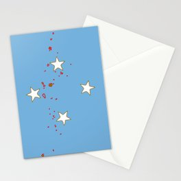 Micronesia Flag with Map of Micronesia Stationery Cards