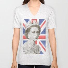 God save the Queen Unisex V-Neck