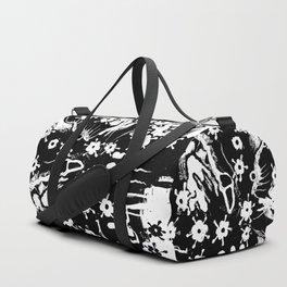 distressed flowers Duffle Bag