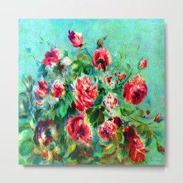 Renoir Roses of Vargemont Metal Print