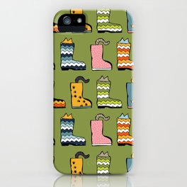 Cats in Boots iPhone Case