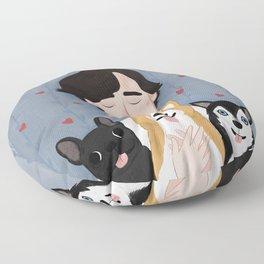 Sherlock Holmes loves pups Floor Pillow