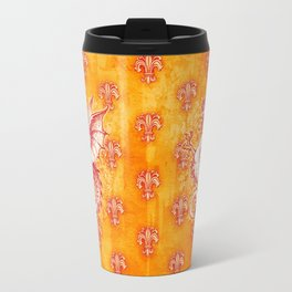 Noble House GINGER FIRE / Grungy heraldry design Travel Mug