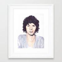 luke hemmings Framed Art Prints featuring Luke by Daniela Herodesová