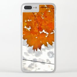 Autumn on Eighth Avenue Clear iPhone Case