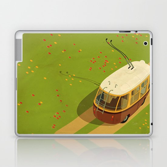 Trolley Rides The Field Laptop & iPad Skin