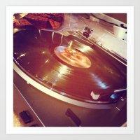 vinyl Art Prints featuring Vinyl by haley lefever
