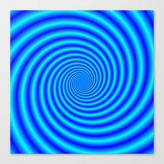 The Swirling Blues Canvas Print