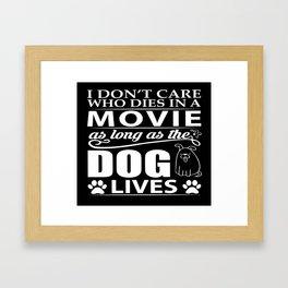 Movie Dog Framed Art Print