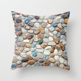 Pebble Rock Flooring V Throw Pillow