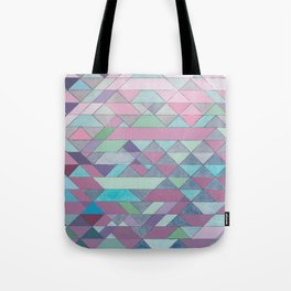 Triangle Pattern no.3 Violet Tote Bag