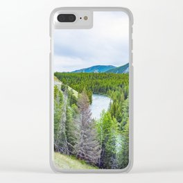 Altai mountains. River Argut. Beautiful highland landscape. Russia. Siberia Clear iPhone Case