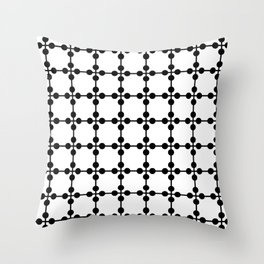 Droplets Pattern - White & Black Throw Pillow