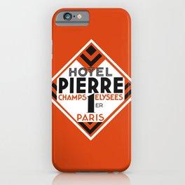 Hotel Pierre Paris Art Deco iPhone Case