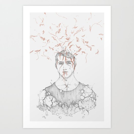 Data Fragmentation  Art Print
