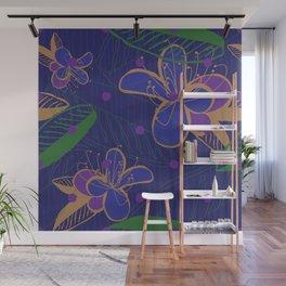 Purple Floral Dream Wall Mural