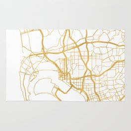 SAN DIEGO CALIFORNIA CITY STREET MAP ART Rug