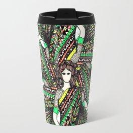 woman with sari mandala Travel Mug