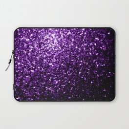 Beautiful Dark Purple glitter sparkles Laptop Sleeve