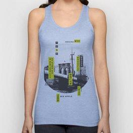 New York Brooklyn Bridge Illustration Unisex Tank Top