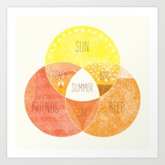 Venn it's Summer! Art Print