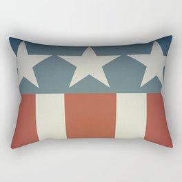 Three Starred Spangle Banner Rectangular Pillow