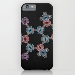Caffeinated Circuitry Molecule iPhone Case
