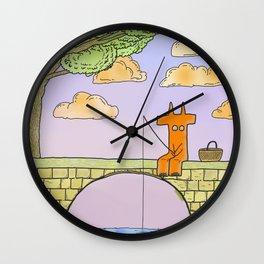 Diablo on the bridge Wall Clock
