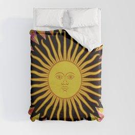 Psychedelic Sun Star Hippie Bohemian Festival Spiritual Zen Yoga Mantra Meditation Duvet Cover