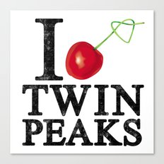 I Love Twin Peaks (Cherry Stem) Canvas Print