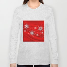 Abstract background with snowflakes Long Sleeve T-shirt