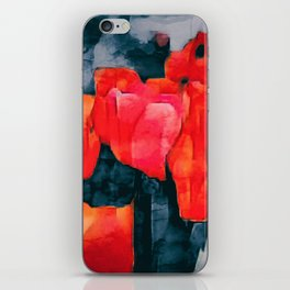 Tulip Field at Night iPhone Skin