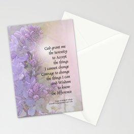 Serenity Prayer Lilacs Stationery Cards