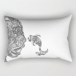 Homme Poisson B&W Rectangular Pillow