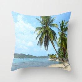 The Caribbean beach 01 Throw Pillow