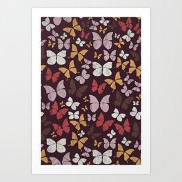 Panapaná I - Butterflies Art Print