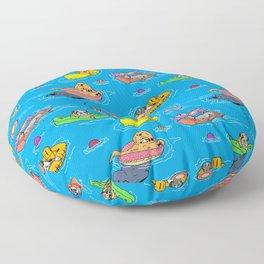 Water Dogs Floor Pillow