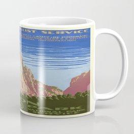 Vintage poster - Zion National Park Coffee Mug