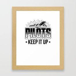 Pilot T-shirt for Aviation & Airplane Lovers Framed Art Print