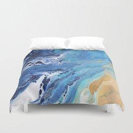 Sea Shore: Acrylic Pour Painting Duvet Cover