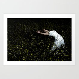 Dancer In The Field Art Print