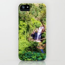 Hidden Waterfall in Forest iPhone Case