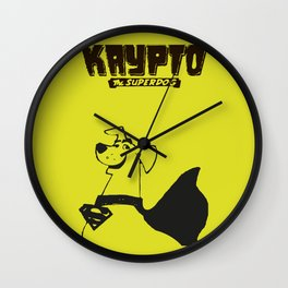 Krypto, Hero, Super Dog, Wall Clock