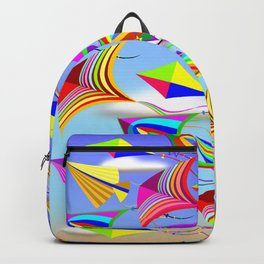 Kites Rainbow Colors in the Wind Backpack