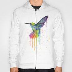 Hummingbird Rainbow Watercolor Hoody