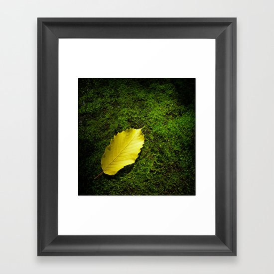 yellow autumn leaf I Framed Art Print