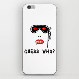 Halloween Guess Who Vampire Beauty iPhone Skin