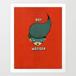 Boy Wonder {Red.} Art Print