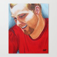 tyler spangler Canvas Prints featuring Tyler by MoHartlage
